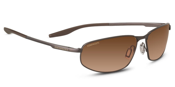 Serengeti Matera 8728 <span> -Brushed Brown, Non Polarized Drivers Gradient Lenses</span>