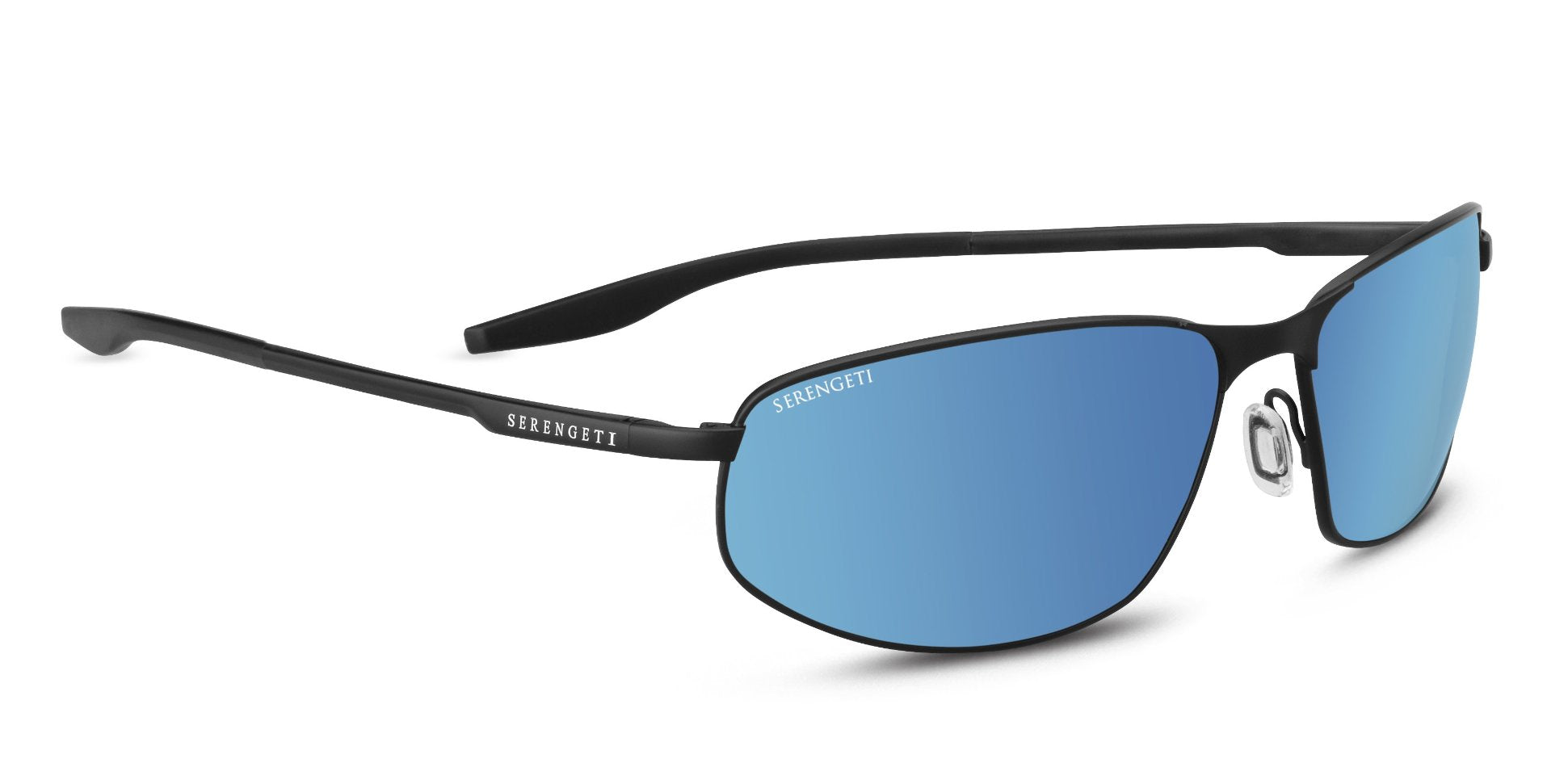 ec9584e3c4 Serengeti Matera Large 8729 span  -Satin Black Mineral Polarized 555nm Blue  Lenses