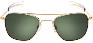 Randolph Aviator Sunglasses<span>- 23K Gold, AGX Green Lenses</span>