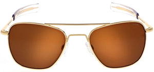 Randolph Aviator Sunglasses<span>- 23K Gold, American Tan Mineral Glass</span>