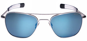 Randolph Aviator White Gold Sunglasses<span>-Polarized Colbalt & American Grey</span>