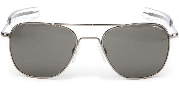 Randolph Aviator Gray Sunglasses<span> -Gunmetal with Gray Lenses</span>