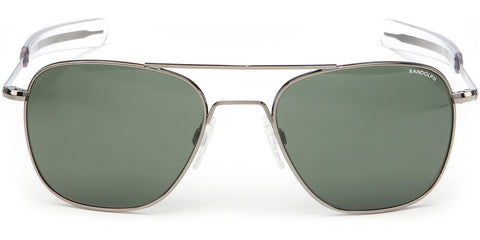 Randolph Aviator Sunglasses<span>- Gunmetal, AGX Green Lenses</span>