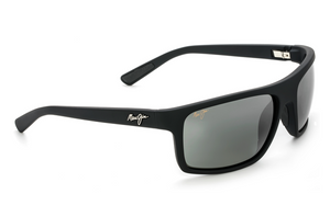 Maui Jim Byron Bay 746 Sunglasses<span>- Matte Black Rubber with Polarized Neutral Grey Lens</span>