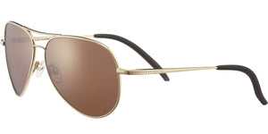 Serengeti Carrara Small 8551 <span>Shiny Bold Gold Polarized Drivers Gold Photochromic Lenses</span>