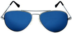 Randolph Concorde Sunglasses<span>- Matte Chrome, Blue Sky Flash Mirror PC Lenses</span>