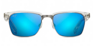 Maui Jim KAWIKA 257 Sunglasses<span>- Crystal with Blue Hawaii Polarized Lens</span>