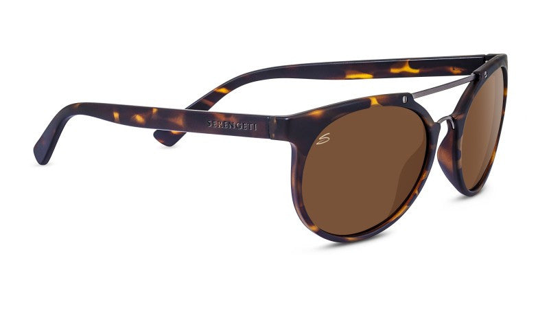 Serengeti Lerici Satin Dark Tortoise/Satin Dark Gunmetal Polarized Drivers mlPB4De