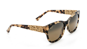 Maui Jim Monstera Leaf HS747 Sunglasses<span>- Honey Havana with Yellow Gold, HCL Bronze Polarized Lens</span>