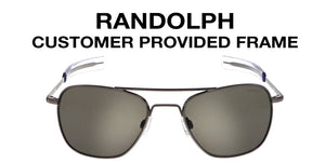 Randolph Single Vision Sunglasses, Customer Provided Frame (Lenses Only)