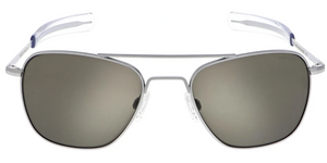 Randolph Aviator Gray Sunglasses<span> -Matte Chrome with American Gray Mineral Glass Lenses</span>