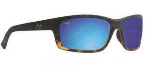 Maui Jim Kanaio Coast 766 Sunglasses<span> -Customized Matte Tortoise with Blue Hawaii Lens</span>