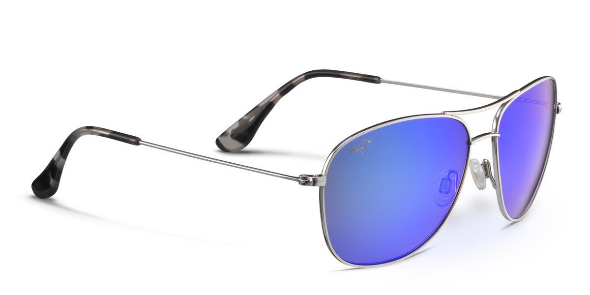Maui Jim Warranty >> Maui Jim CLIFF HOUSE 247 Sunglasses- Silver with Polarized ...