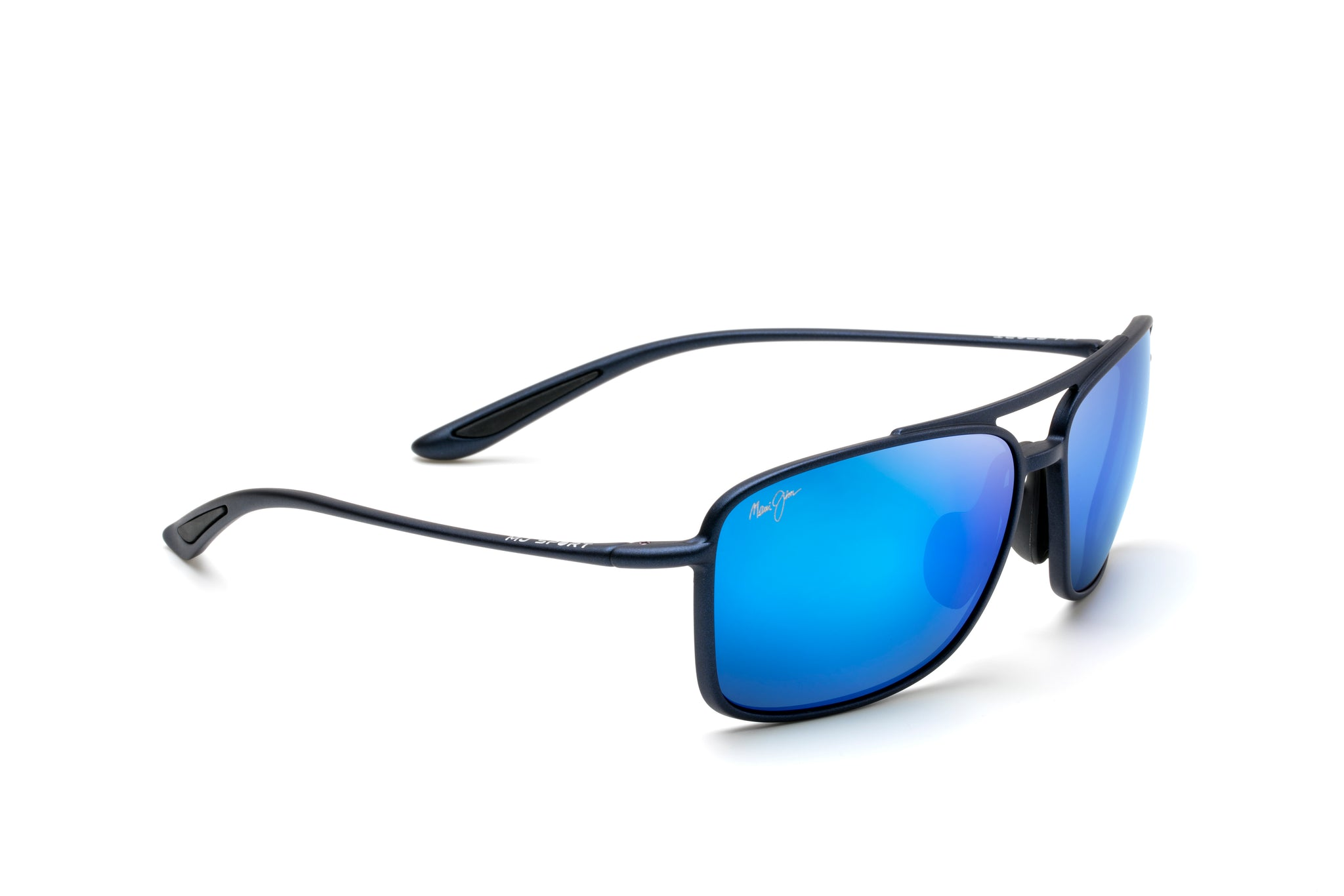 087d727fc4 Maui Jim Kaupo Gap 437 Sunglasses span - Matte Blue with Polarized Blue  Hawaii