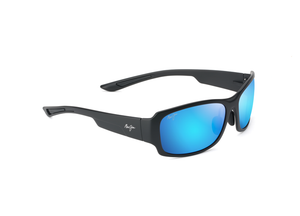 Maui Jim MonkeyPod 441 Sunglasses<span>- Matte Black with Polarized Blue Hawaii Lens</span>