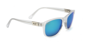 Maui Jim Wakea 745 Sunglasses<span>- Frosted Crystal with Polarized Blue Hawaii Lens</span>