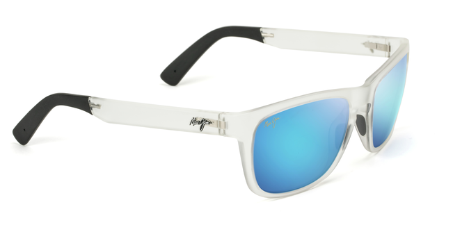fbedc69f530 Maui Jim South Swell 775 Sunglasses span - Frosted Crystal with Polarized  Blue Hawaii