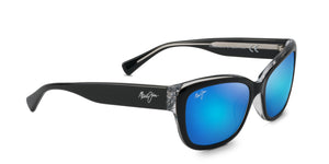 Maui Jim Plumeria 768 Sunglasses<span>-Black with Crystal with Polarized Blue Hawaii Lens</span>