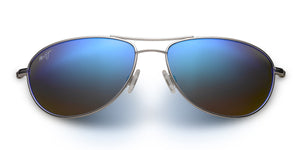Maui Jim Baby Beach 245 Sunglasses<span>- Silver with Polarized Blue Hawaii Lens</span>