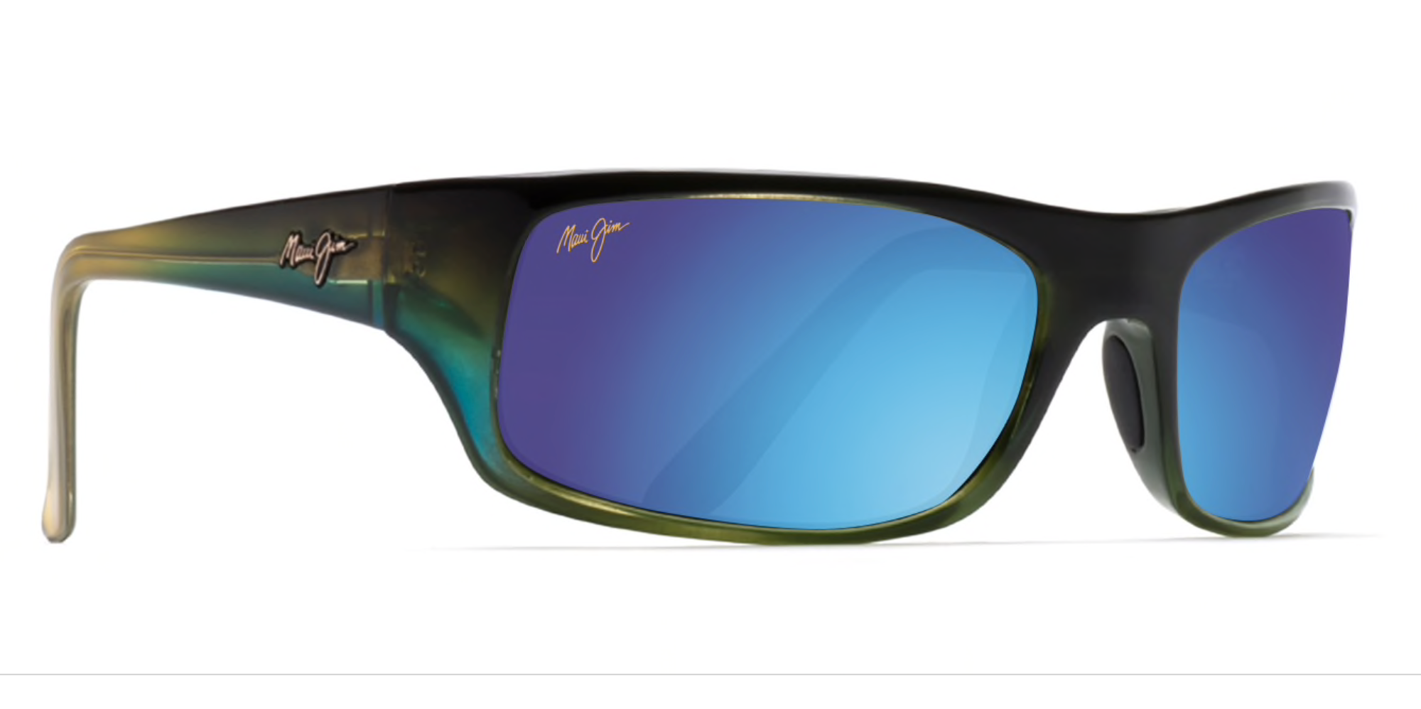 d4f16dd2360f Maui Jim Peahi 202 Sunglasses Mahi Mahi w/ Maui HT, Blue Hawaii, Grey Lenses  - Flight Sunglasses