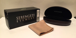 Serengeti Alghero 8313 <span>- Shiny Dark Gunmetal, Polarized 555nm Photochromic Lenses</span>