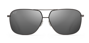 Maui Jim Kami 778 Aviator Sunglasses<span>- Silver with Navy Blue, Dual Mirror Blue to Silver</span>