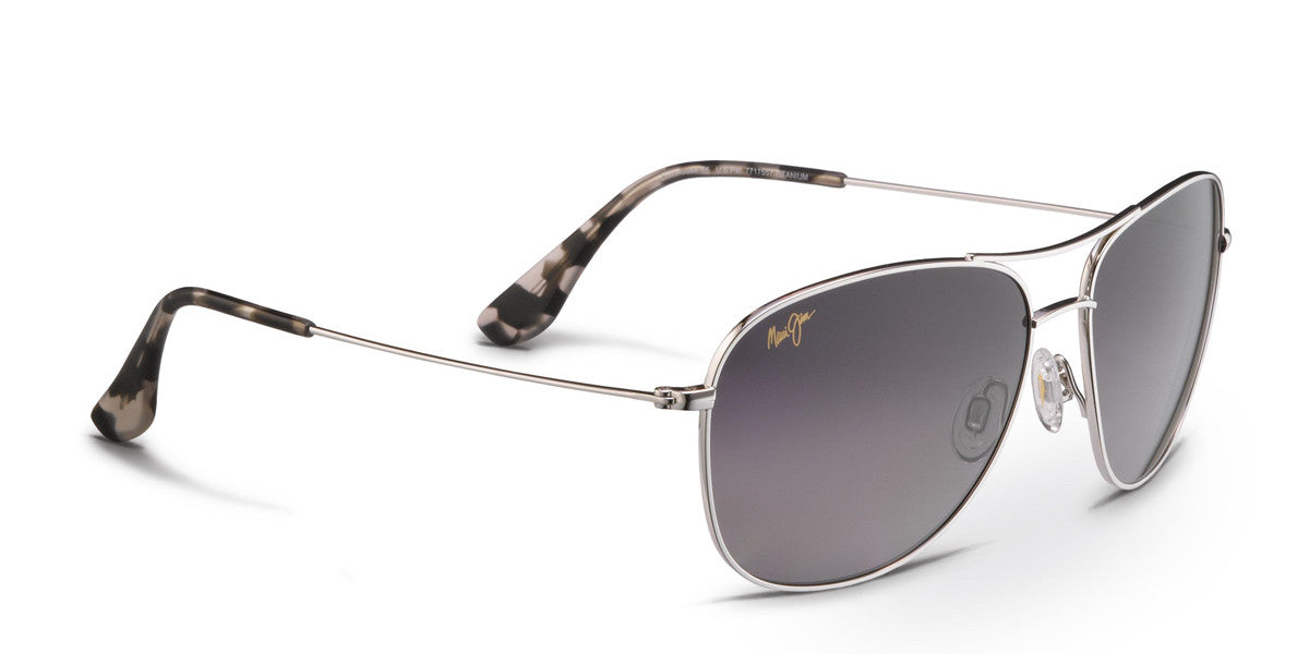 Maui Jim CLIFF HOUSE 247 Sunglasses- Silver with Neutral Grey - Flight  Sunglasses 5bc7db5af9b8