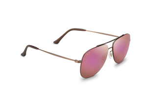 Maui Jim Cinder Cone 789 Sunglasses<span>- Satin Sepia with Polarized Maui Sunrise Lens</span>