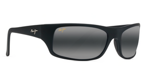 Maui Jim Peahi 202 Sunglasses<span>- Matte Black Rubber with Polarized Blue Hawaii Lens</span>