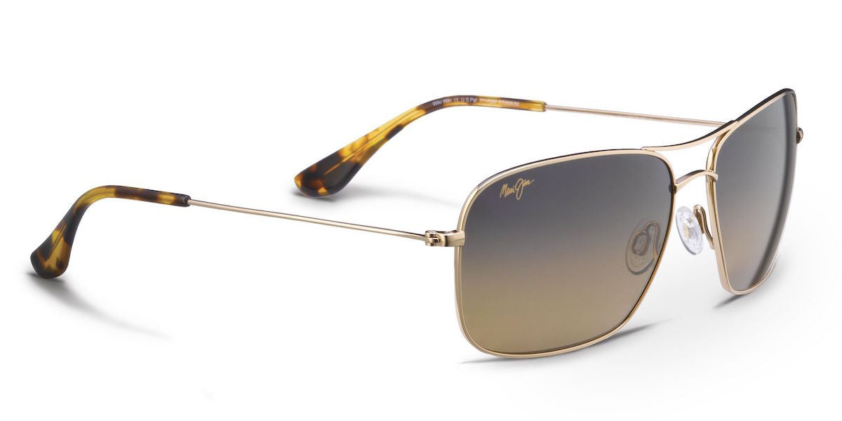 f6b946eaaed Maui Jim Wiki Wiki HS246 Sunglasses -Gold w  Polarized HCL Bronze Lens -  Flight Sunglasses