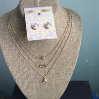 Set of 3 Gold layered Necklaces