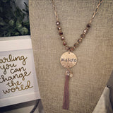 Charming inspirational beaded necklace
