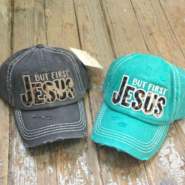 """But First JESUS"" cap"