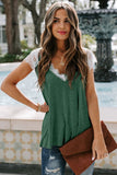 Green Lace Knit Top