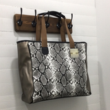 Leopard or Snake Print Leather Weekender Bag