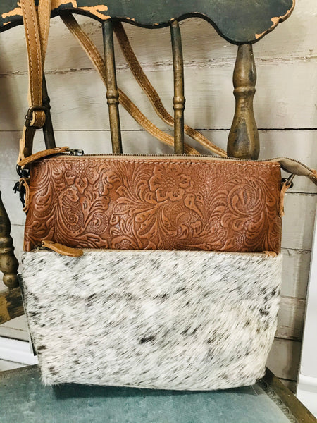 Light Engraved Crossbody Bag