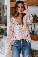 Cakewalk Floral Smocked Blouse