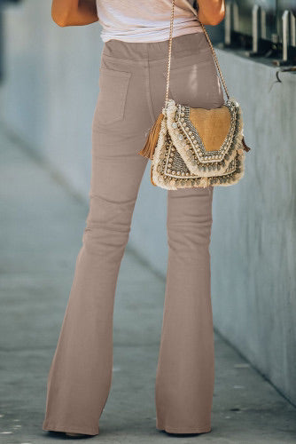 Light Pink High Rise Bell Bottom Pant