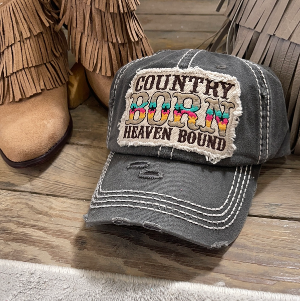 """Country Born Heaven Bound"" Cap"