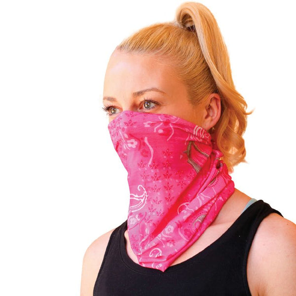 11-in-1 Multi Use Face Mask Pink Paisley