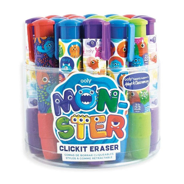 ClickIt Monster Erasers Tub of 24
