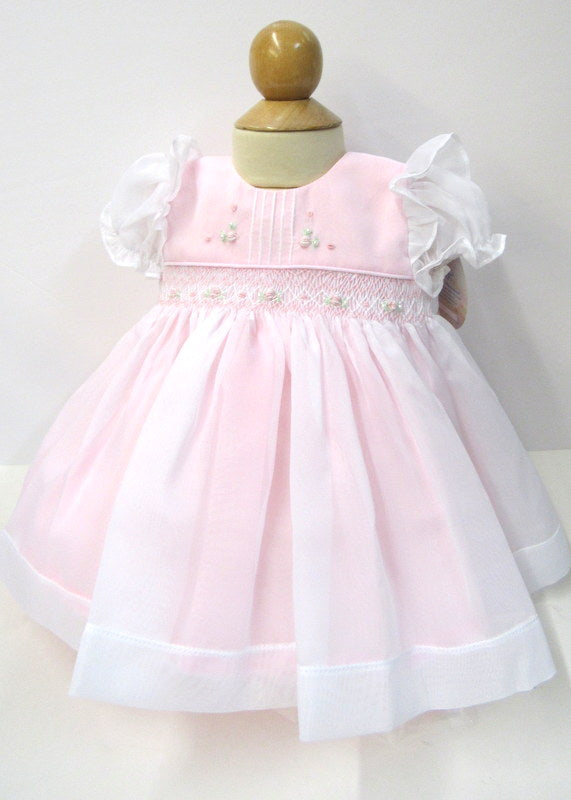 upcycled eco remade Preemie Christening Gown and bonnet. Recycled