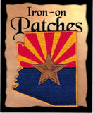 Arizona State Shaped Flag Iron-On Patch [Pre-Pack]