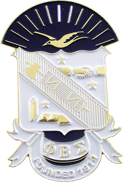 Phi Beta Sigma Shield Die-Cut Car Badge