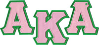 Alpha Kappa Alpha Twill Letter Iron-On Patch Set