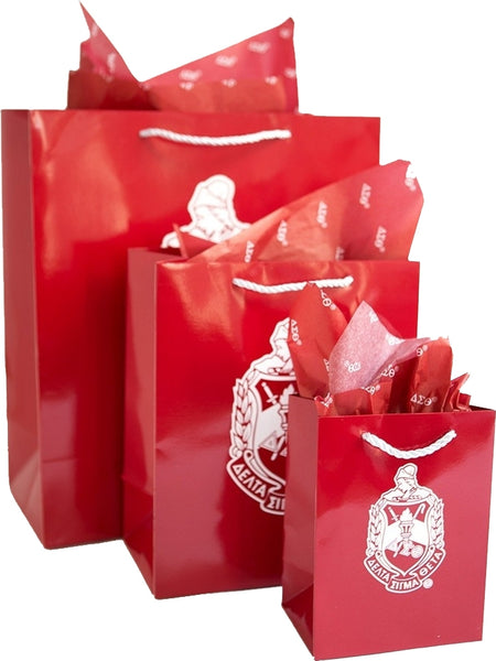 Delta Sigma Theta Crest Paper Gift Bag Set [Pre-Pack]