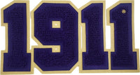 Omega Psi Phi 1911 Chenille Sew-On Patch
