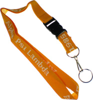 Alpha Psi Lambda Classic Woven Embroidered Lanyard