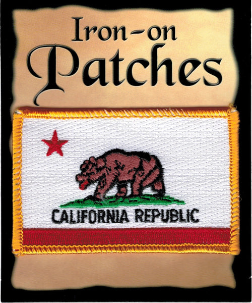California State Flag Iron-On Patch [Pre-Pack]