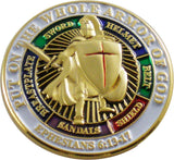Eagle Crest Put On The Whole Armor of God Lapel Pin